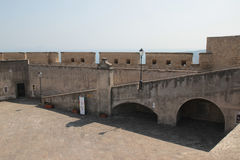 On the roof of Castel Sant'Elmo, Naples Italy stock images