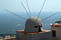 On the roof of Castel Sant'Elmo, Naples Italy Stock Photo