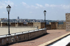 On the roof of the Castel SantElmo Stock Photo