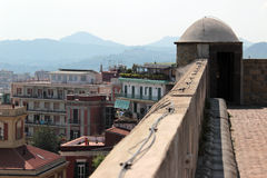 On the roof of the Castel SantElmo Royalty Free Stock Image