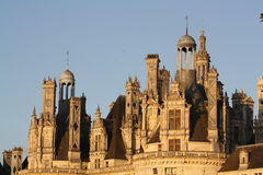 Roof castle chambord Royalty Free Stock Image