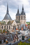 Roof of the Cathedral Saint-Louis in Blois Royalty Free Stock Photo
