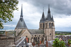 Roof of the Cathedral Saint-Louis in Blois Royalty Free Stock Image