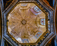 Roof of Cathedral of Santa Eulalia Royalty Free Stock Image