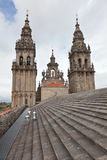 Roof of the Cathedral of Santiago de Compostela Stock Images