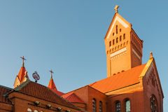 The roof of Catholic Church of St. Simeon and Helena in Minsk Royalty Free Stock Image