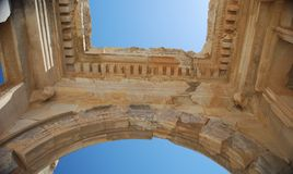 Roof of Cecilius library. An ancient roof of Cecilius library Royalty Free Stock Photo