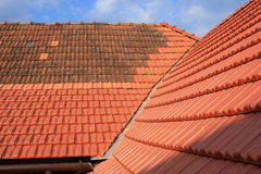 Roof with ceramic covering Royalty Free Stock Photo