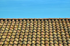 Roof with ceramic tile type of monk and nun Stock Photo