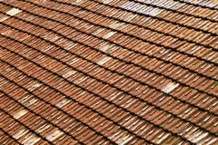 roof with ceramic tiles royalty free stock photo