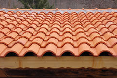 Roof with ceramic tiles Royalty Free Stock Image