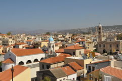 Roof in Chania. Tiled roof in Chania view of the city Royalty Free Stock Photos