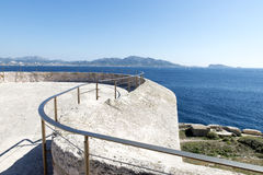 On the roof of Chateau d'If, Marseille, France Royalty Free Stock Photos