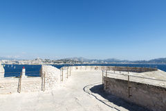 On the roof of Chateau d'If, Marseille, France Royalty Free Stock Images