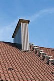 Roof with chimney Royalty Free Stock Image
