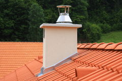 Roof and chimney Stock Image