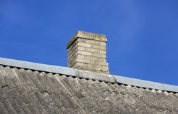 Roof with chimney Stock Image