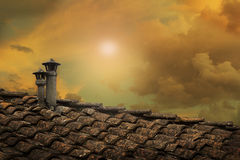 Roof chimney Royalty Free Stock Photography