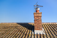 Roof an chimney Royalty Free Stock Photo