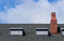 Roof and chimney Royalty Free Stock Photos