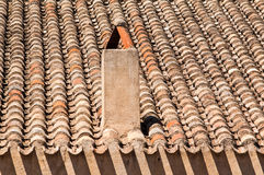 Roof with chimney Royalty Free Stock Photo