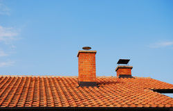 Roof and Chimneys Royalty Free Stock Images