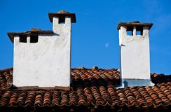 Roof with chimneys Royalty Free Stock Photo