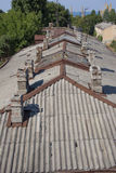 Roof with chimneys Royalty Free Stock Images