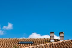 Roof and chimneys stock photos