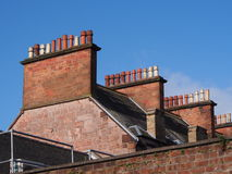 Roof with chimneys Royalty Free Stock Photography