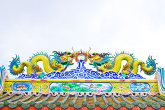 Roof by China's style,Chinese shrine Stock Images