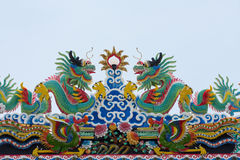 Roof china temple. Art design roof temple china Stock Photo