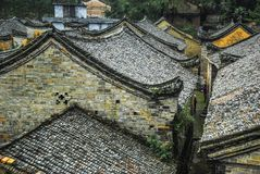 The roof of the Chinese ancient tradition house Royalty Free Stock Photography