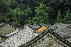 The roof of the Chinese ancient tradition house Stock Photography