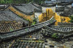 The roof of the Chinese ancient tradition house Royalty Free Stock Photo