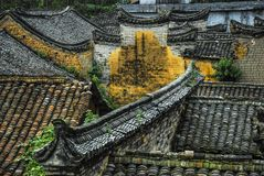 The roof of the Chinese ancient tradition house Royalty Free Stock Images