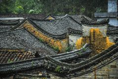 The roof of the Chinese ancient tradition house Stock Photo