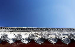 Roof of Chinese temple Stock Images