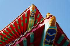The roof of Chinese temple Royalty Free Stock Photography