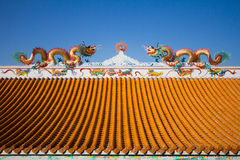 Roof in Chinese temple Royalty Free Stock Images