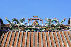 Roof Of Chinese Temple Royalty Free Stock Images