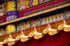 The roof of a Chinese temple royalty free stock photography