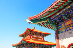 Roof of Chinese temple Royalty Free Stock Photography