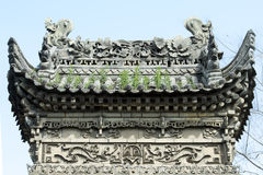 Roof Chinese Temple royalty free stock photo