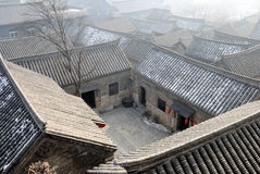 The roof of Chinese town Stock Images