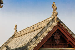 The roof of Chinese traditional wooden buildings Royalty Free Stock Photos