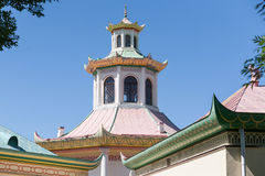 Roof of Chinese village in Tsarskoe Selo Stock Photos