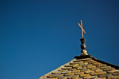Roof of a chirch in Anorra Royalty Free Stock Images