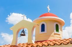 Roof of christianity church in Greece Royalty Free Stock Photography