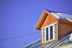 The roof of the church Royalty Free Stock Photography